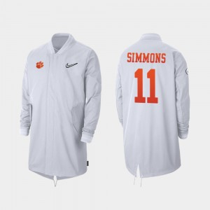 #11 Isaiah Simmons Clemson Tigers 2019 College Football Playoff Bound Men's Full-Zip Sideline Jacket - White