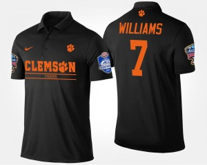 #7 Mike Williams Clemson Tigers For Men's Bowl Game Atlantic Coast Conference Sugar Bowl Polo - Black