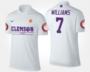 #7 Mike Williams Clemson Tigers Mens Polo - White