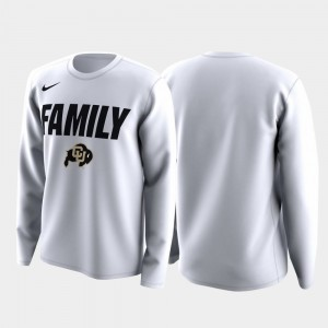 Colorado Buffaloes Men Family on Court March Madness Legend Basketball Long Sleeve T-Shirt - White
