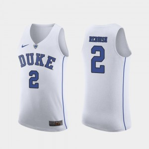 #2 Cam Reddish Duke Blue Devils March Madness College Basketball Authentic Mens Jersey - White