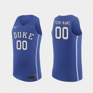 #00 Duke Blue Devils March Madness College Basketball Authentic Men Customized Jerseys - Royal