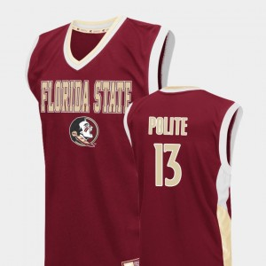 #13 Anthony Polite Florida State Seminoles Fadeaway College Basketball For Men Jersey - Red