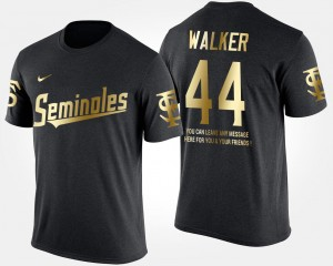 #44 DeMarcus Walker Florida State Seminoles For Men Short Sleeve With Message Gold Limited T-Shirt - Black