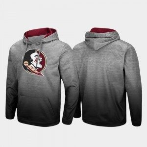Florida State Seminoles Sitwell Sublimated Pullover Men Hoodie - Heathered Gray