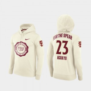 #23 Ricky Aguayo Florida State Seminoles Rival Therma College Football Pullover Men Hoodie - Cream
