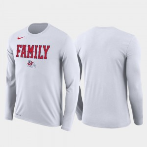 Fresno State Bulldogs Mens Family on Court March Madness Basketball Performance Long Sleeve T-Shirt - White