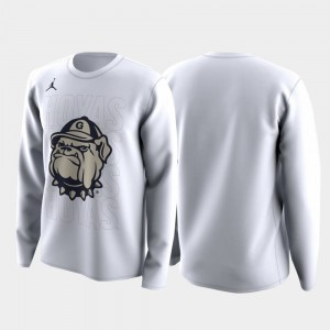 Georgetown Hoyas Mens March Madness Legend Basketball Long Sleeve Family on Court T-Shirt - White