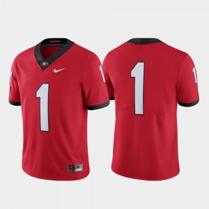 #1 Georgia Bulldogs For Men Limited College Football Jersey - Red