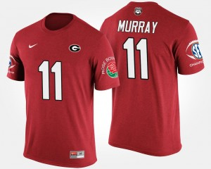 #11 Aaron Murray Georgia Bulldogs For Men's Bowl Game Southeastern Conference Rose Bowl T-Shirt - Red