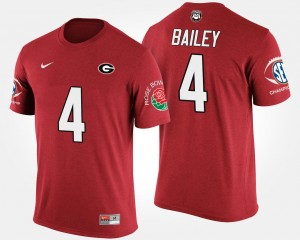 #4 Champ Bailey Georgia Bulldogs For Men Bowl Game Southeastern Conference Rose Bowl T-Shirt - Red