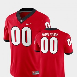 #00 Georgia Bulldogs College Football 2018 Game For Men Customized Jerseys - Red