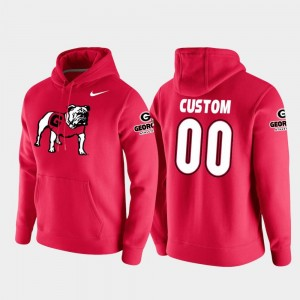 #00 Georgia Bulldogs For Men College Football Pullover Vault Logo Club Customized Hoodie - Red