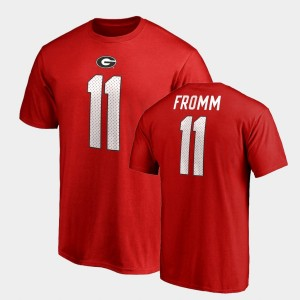 #11 Jake Fromm Georgia Bulldogs College Legends Name & Number For Men T-Shirt - Red