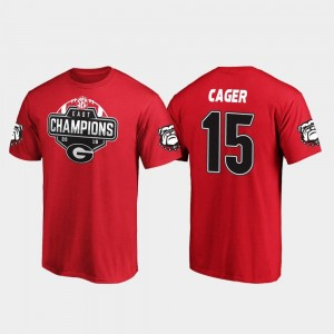 #15 Lawrence Cager Georgia Bulldogs 2019 SEC East Football Division Champions Men T-Shirt - Red