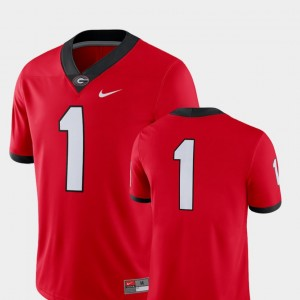 #1 Georgia Bulldogs For Men's College Football 2018 Game Jersey - Red