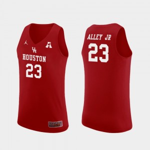 #23 Cedrick Alley Jr. Houston Cougars Replica For Men College Basketball Jersey - Red