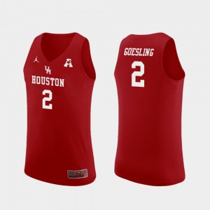#2 Landon Goesling Houston Cougars Replica College Basketball For Men Jersey - Red