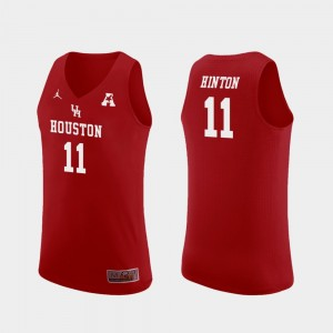 #11 Nate Hinton Houston Cougars Replica College Basketball Mens Jersey - Red