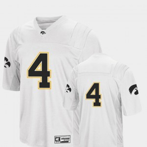 #4 Iowa Hawkeyes College Football Colosseum For Men Jersey - White
