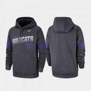 Kansas State Wildcats For Men Pullover Performance Hoodie - Anthracite