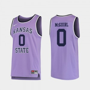 #0 Mike McGuirl Kansas State Wildcats Replica College Basketball For Men Jersey - Purple
