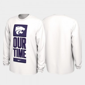 Kansas State Wildcats Our Time Bench Legend 2020 March Madness Mens T-Shirt - White