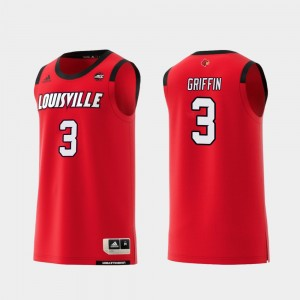 #3 Jo Griffin Louisville Cardinals Replica Mens College Basketball Jersey - Red