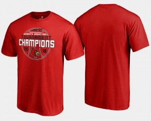 Louisville Cardinals Men 2018 ACC Champions Basketball Conference Tournament T-Shirt - Red