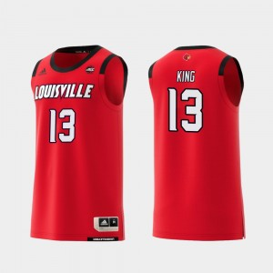 #13 V.J. King Louisville Cardinals For Men's Replica College Basketball Jersey - Red