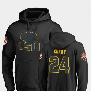 #24 Chris Curry LSU Tigers College Football Big & Tall Taylor For Men's Hoodie - Black