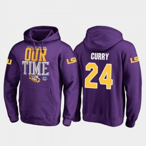 #24 Chris Curry LSU Tigers 2019 Fiesta Bowl Bound Counter For Men Hoodie - Purple