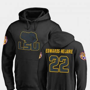 #22 Clyde Edwards-Helaire LSU Tigers College Football Mens Big & Tall Taylor Hoodie - Black