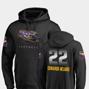 #22 Clyde Edwards-Helaire LSU Tigers Men Football Midnight Mascot Hoodie - Black