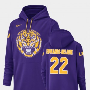 #22 Clyde Edwards-Helaire LSU Tigers Champ Drive Football Performance For Men Hoodie - Purple
