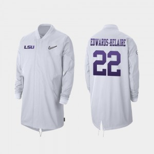 #22 Clyde Edwards-Helaire LSU Tigers For Men Full-Zip Sideline 2019 College Football Playoff Bound Jacket - White