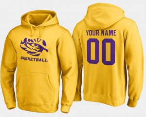 #00 LSU Tigers Basketball - Mens Customized Hoodie - Gold