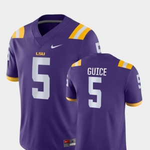 #5 Derrius Guice LSU Tigers Game College Football For Men's Jersey - Purple