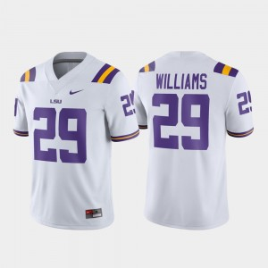 #29 Greedy Williams LSU Tigers For Men Game Football Jersey - White