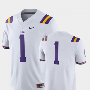 #1 LSU Tigers For Men College Football 2018 Game Jersey - White