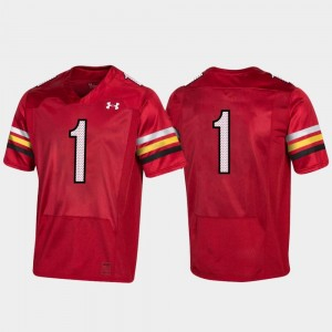 #1 Maryland Terrapins 150th Anniversary College Football Replica Men's Jersey - Red