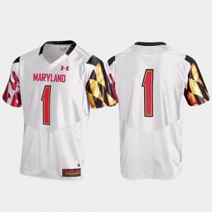 #1 Maryland Terrapins For Men Replica Jersey - White