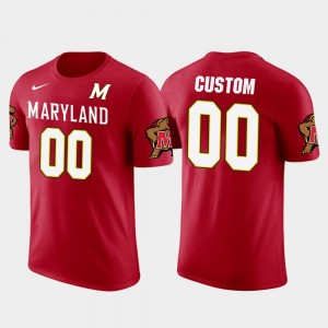 #00 Maryland Terrapins Future Stars For Men Cotton Football Customized T-Shirt - Red