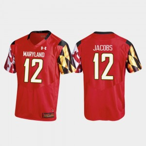 #12 Taivon Jacobs Maryland Terrapins College Football Replica Men's Jersey - Red