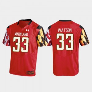 #33 Tre Watson Maryland Terrapins For Men's College Football Replica Jersey - Red