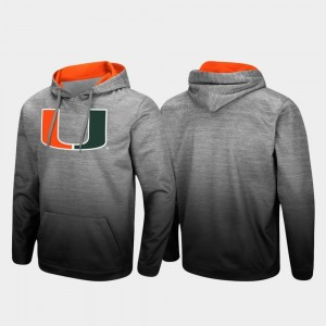 Miami Hurricanes Mens Sitwell Sublimated Pullover Hoodie - Heathered Gray
