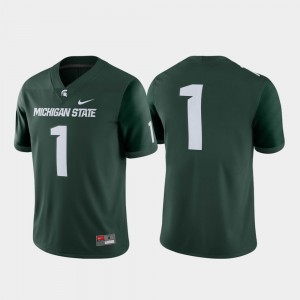 #1 Michigan State Spartans Game College Football Men's Jersey - Green