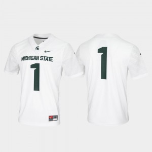 #1 Michigan State Spartans Game Untouchable Mens Jersey - White