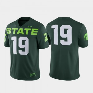 #19 Michigan State Spartans Game Alternate For Men's Jersey - Green