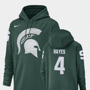 #4 C.J. Hayes Michigan State Spartans Champ Drive Mens Football Performance Hoodie - Green